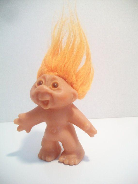 Vintage Troll Doll Orange Hair DAM 1986 Retro by ALEXLITTLETHINGS
