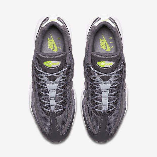 new concept 00f4c f8ad7 ... get chaussure nike air max 95 pas cher homme essential anthracite  anthracite gris fonce volt 9078c