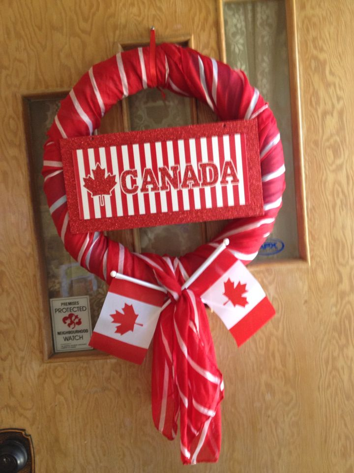 My Canada day wreath! Don't see many Canadian things on here so had to get creative!