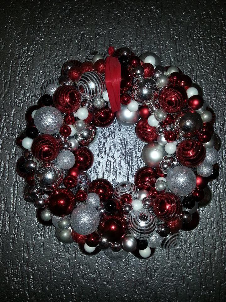 kerstkrans zelf gemaakt