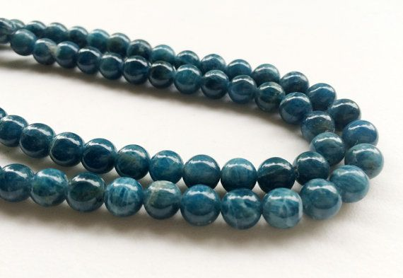 Neon Apatite Beads Natural Apatite Smooth Round by gemsforjewels