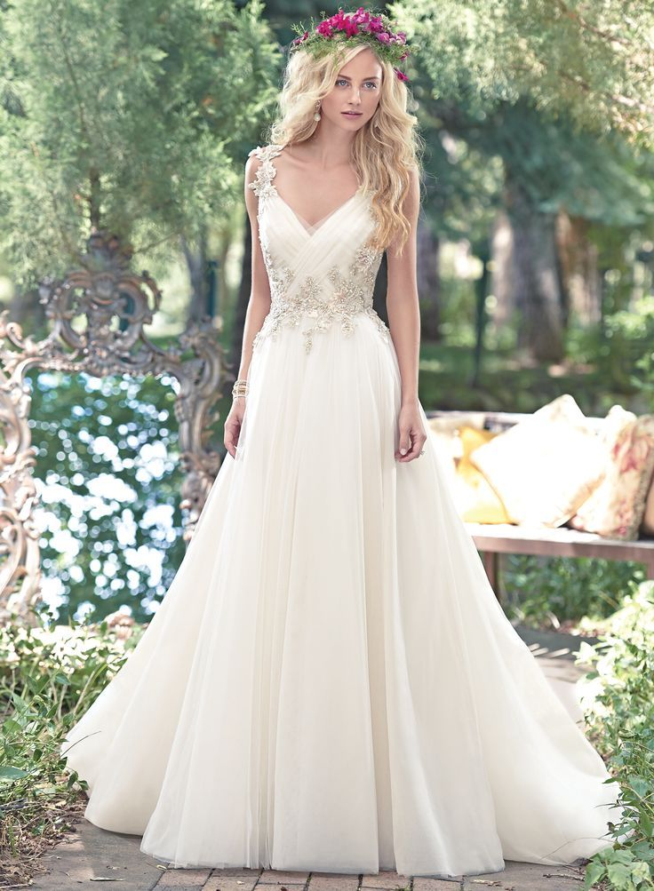 Best Hairstyle For V Neck Wedding Dress : 53 best maggie sottero images on pinterest