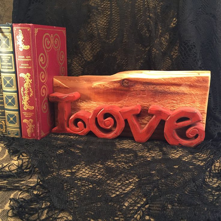 30% OFF SALE! Decorative Love Wall Mount Word Art Mounted On Knotty Cedar Wood Handmade Home Decor Item#482332870 by AntiquesNotForgotten on Etsy