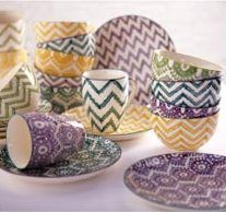 Painterly Chevron Bowls at Cost Plus World Market >>#WorldMarket Urban Dwellings Collection