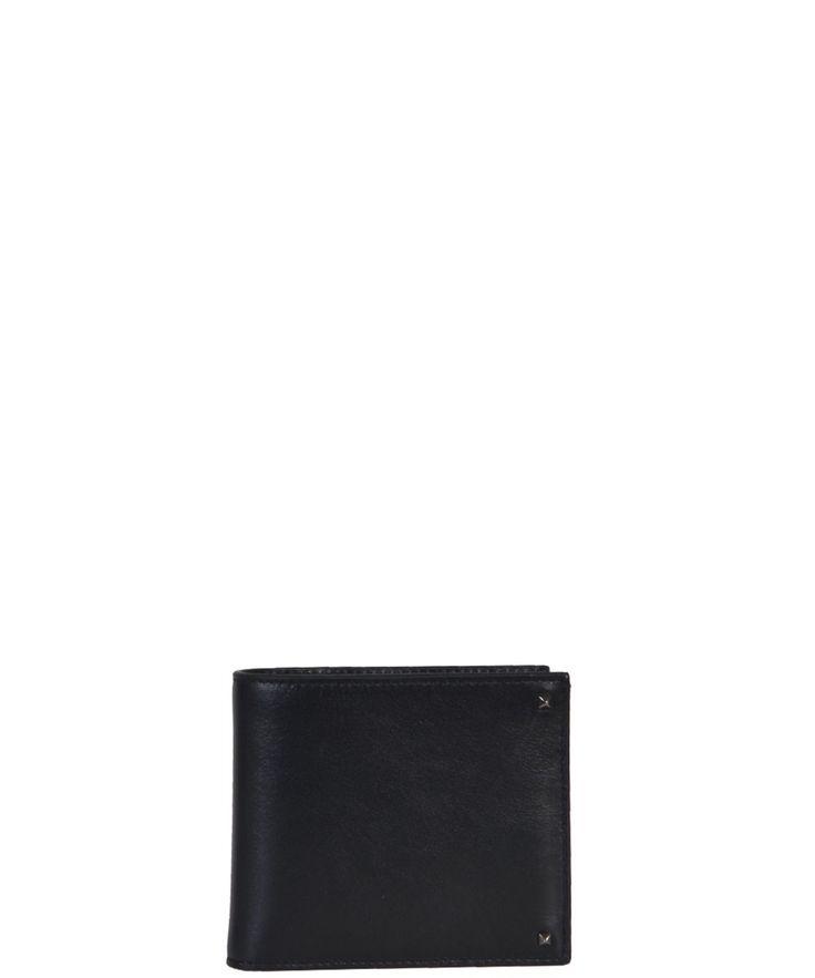 VALENTINO Valentino Garavani Men'S  Black Leather Wallet'. #valentino #wallets