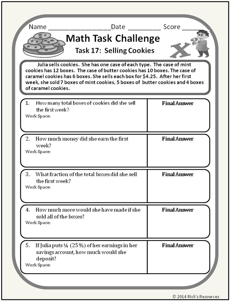 24 best math story problems images on Pinterest | Math activities ...
