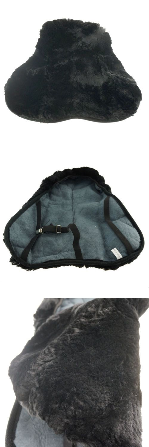 Saddle Covers 183416: One Piece Real Fleece English Saddle Seat Saver Classic Black Wool Pad St-Bk BUY IT NOW ONLY: $45.99
