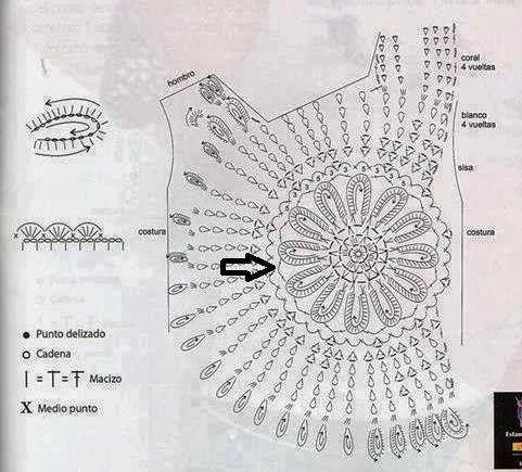 Blusa de crochê da Ana Maria Braga - Gráfico, receita, fotos e modelos - Toda Moderna: Crochet Tunic, Blusaanamariabraga16Jpg 960868, Crochet Wearable, Ana Maria, Crochet Patterns, Crochet Tops Patterns, Maria Braga, Crochet Clothing, Crochet