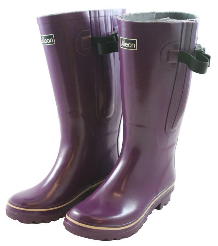 Jileon Wellies - Extra Wide Fit Purple Wellies - Jileon, £54.99 (http://www.jileon.com/extra-wide-fit-purple-wellies/)