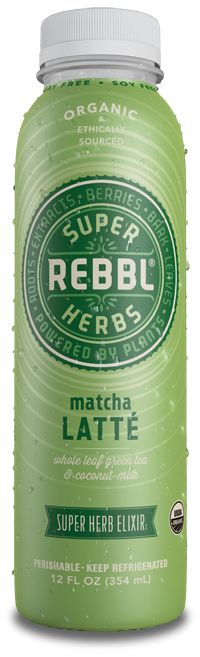 Matcha Latte is an example of REBBL's variety of health conscious products that use super herbs and exemplify fair trade practices.
