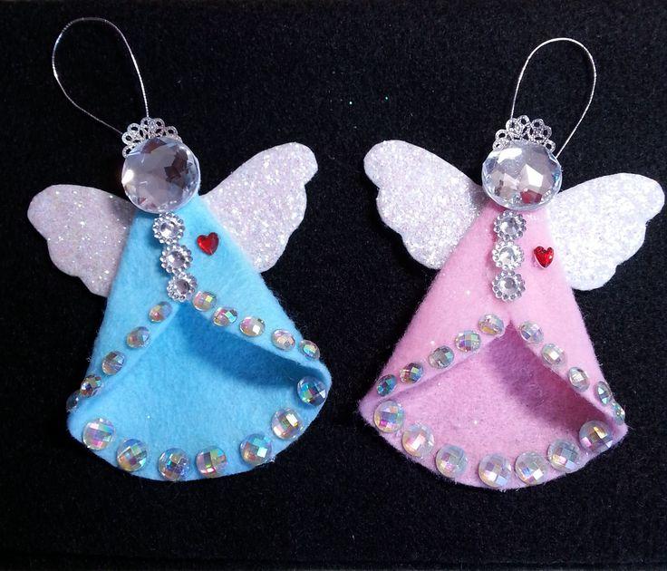 DIY~Sparkling Vintage/Retro Felt Angel Ornament!