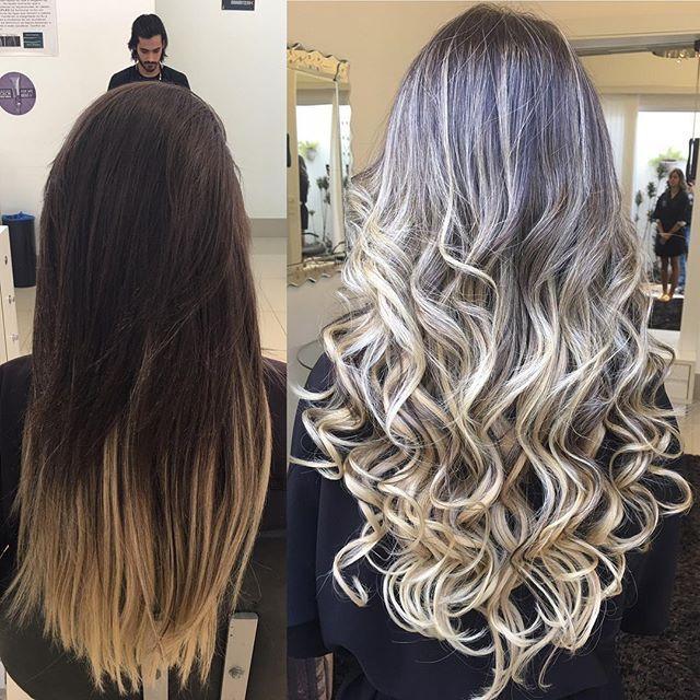 WEBSTA @ douglasdfaria - #transformação de hoje , #ombre com mechas bem finas próximas mais mantendo fundo mais natural , limpando o tom das pontas e tirando a marcação do mega !! By#douglasfaria #boatarde #boanoite #brasil #photo #cute #cabeloscoloridos #cabelossaudaveis #blonde ##cabelo #loira #hair