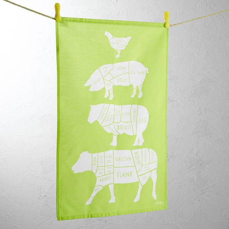 Bright Lawn Green Tea Towel
