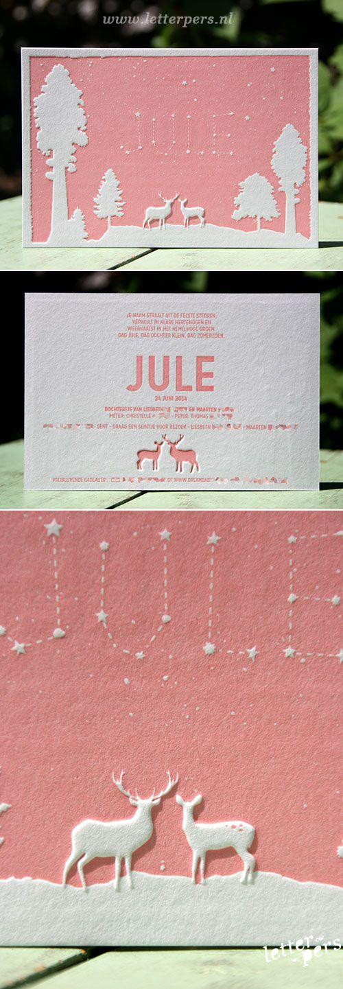 letterpers_letterpress_geboortekaartje_jule_preeg_roze_herten_sterren_leuk