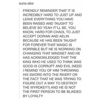 *screams from the rooftops* CHAOL WESTFALL DESERVES JUSTICE AND LOVE AND WARM HUGS AND NO AMOUNT OF CHAOL HATE WILL MAKE ME HATE HIM EVEN IF I SHIP AELIN W SOMEONE ELSE CHAOL WILL ALWAYS BE MY BEAUTIFUL BABY