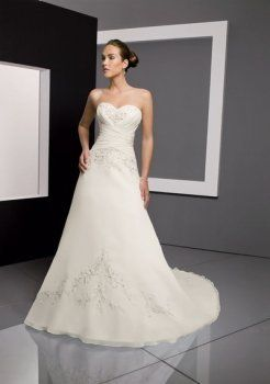 Casuali luminoso a-line abiti da sposa senza spalline