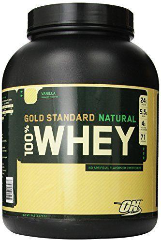 Optimum Nutrition 100% Whey Gold Standard Natural Whey, Vanilla, 5 Pound