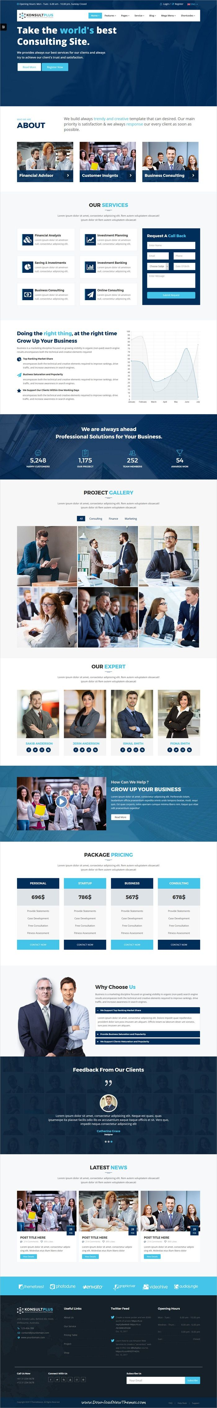 Consulting Plus is clean and modern design responsive #bootstrap template for #business and #consulting services website with 18+ niche homepage layouts download now..