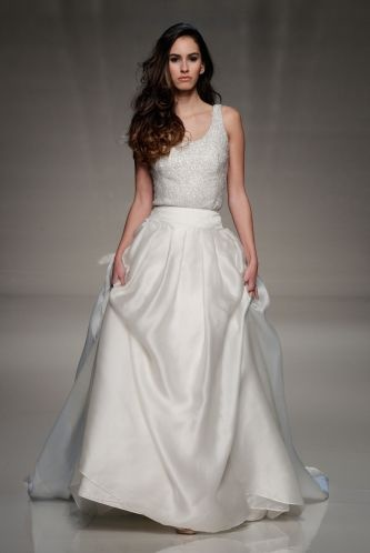 Wedding dress separates top skirt wedding dress for Wedding dress skirt and top