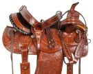 Studded Barrel Racing Western Pleasure Horse Saddle 14 18