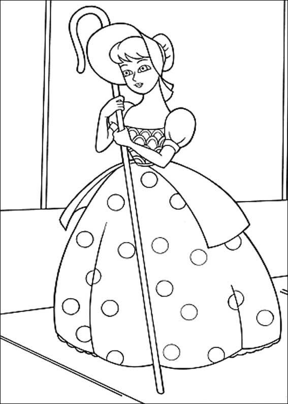 bo peep coloring page