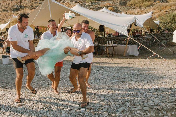 beach wedding party Kythnos | lafete