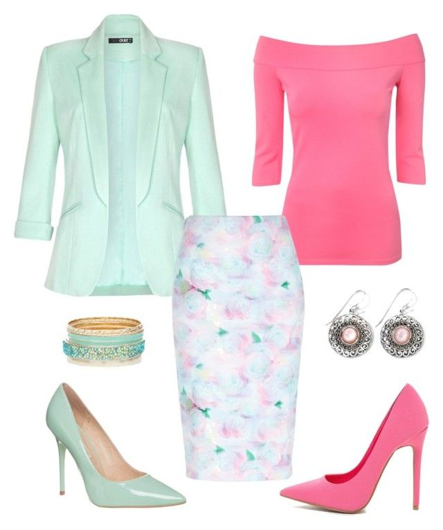 Mint and pink by jofobbester on Polyvore featuring polyvore fashion style Jane Norman Quiz River Island Buffalo clothing