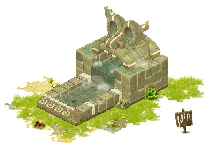 Fontaine / Fountain - Dofus - Wakfu ... WIP by Weequays