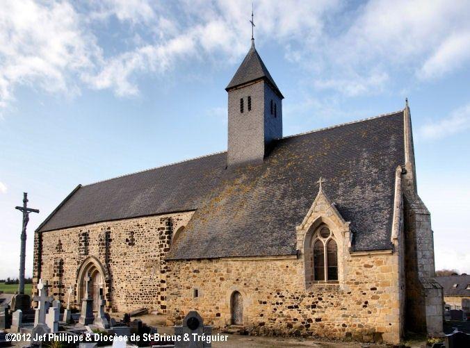 Église St-Gobrien, à Morieux.