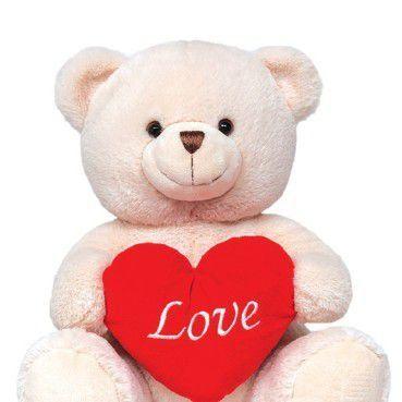 Ursinho de Pelúcia - Ursinho Love - Ideal para surpreender quem você ama, macio e com toque suave é impossível não querer abraça-lo. Apaixone-se hoje mesmo