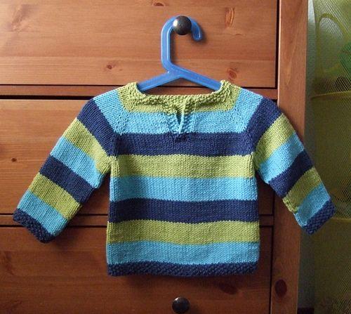 Jersey bebè de rayas ~ Juntitos...