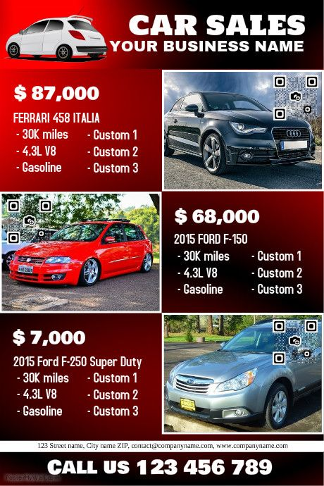 sales brochure templates - 41 best images about car dealer flyer diy on pinterest