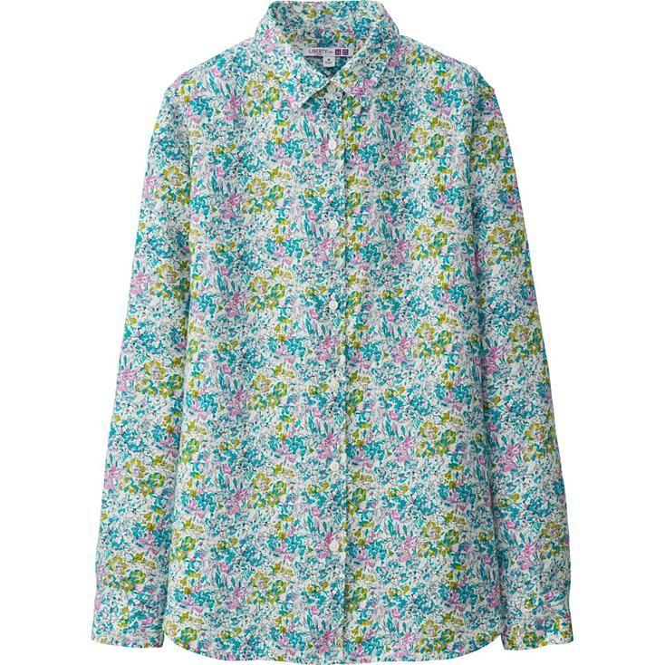 WOMEN LIBERTY LONDON for UNIQLO Premium Linen LONG SLEEVE Shirt
