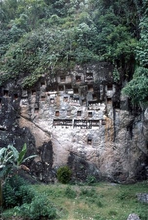 the ancestor grave in tana toraja, south sulawesi, indonesia