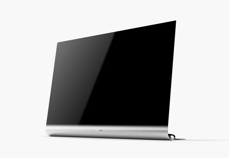 BANG_2 @ kimseungwoo.com ____________________________ Bang&Olufsen objet TV sleek slim telveision aluminum black silver gradation chromium curve thin display refined new design art