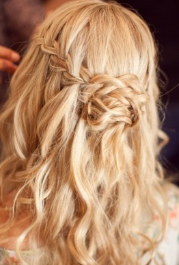 too cute.: Hair Ideas, Waterfalls, Half Up, Hair Styles, Wedding Ideas, Makeup, Beauty, Waterfall Braids, Wedding Hairstyles
