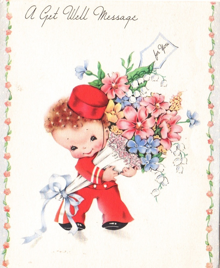 1000+ Images About Vintage Get Well Cards On Pinterest