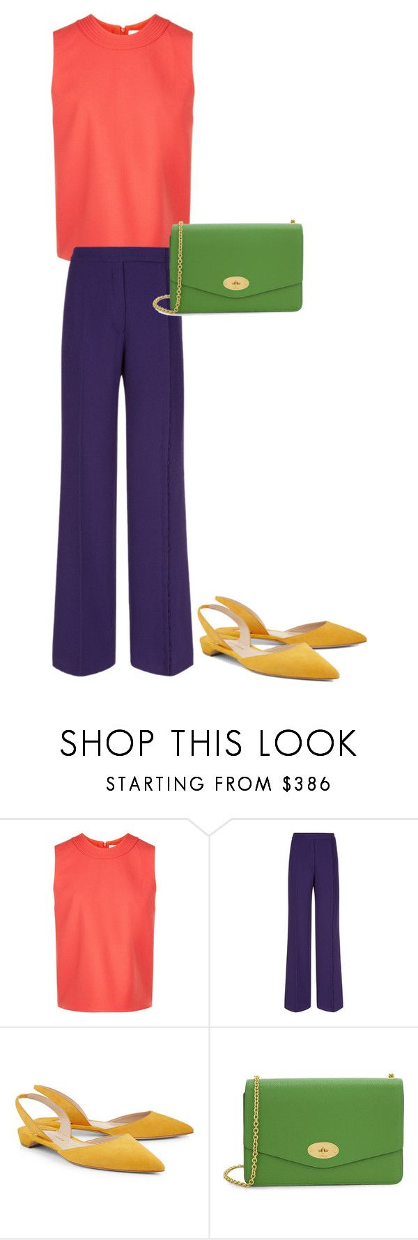 """""""16"""" by asvetik on Polyvore featuring мода, Victoria, Victoria Beckham, Marco de Vincenzo, Paul Andrew и Mulberry"""