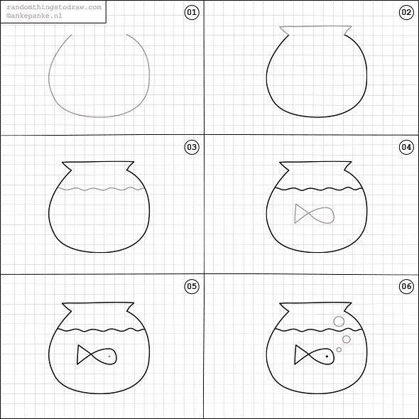 things random draw drawing doodle easy fun drawings step simple fish fishbowl learn sketch doodles getdrawings instagram