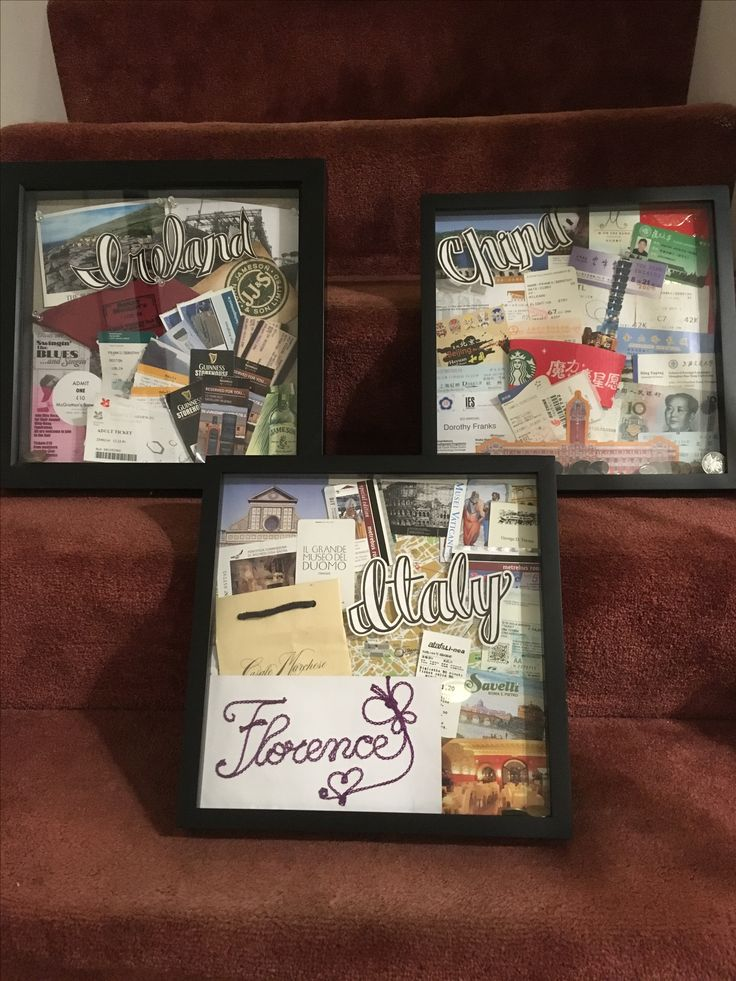 Travel shadow boxes of my travels  Pin by Dorothy Franks