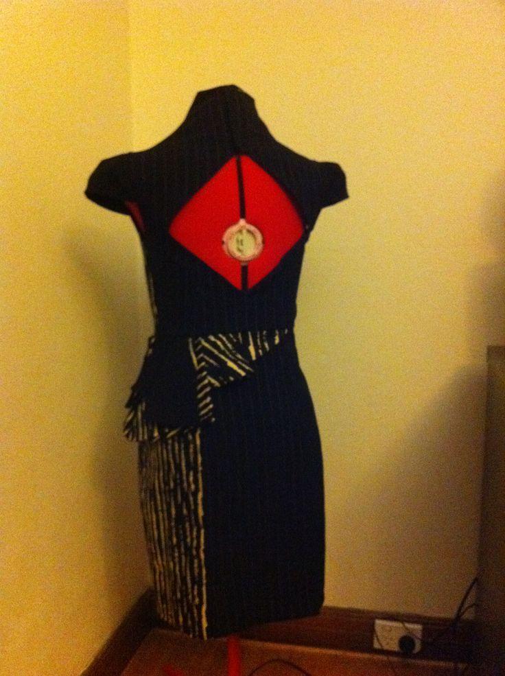 Back of dress x