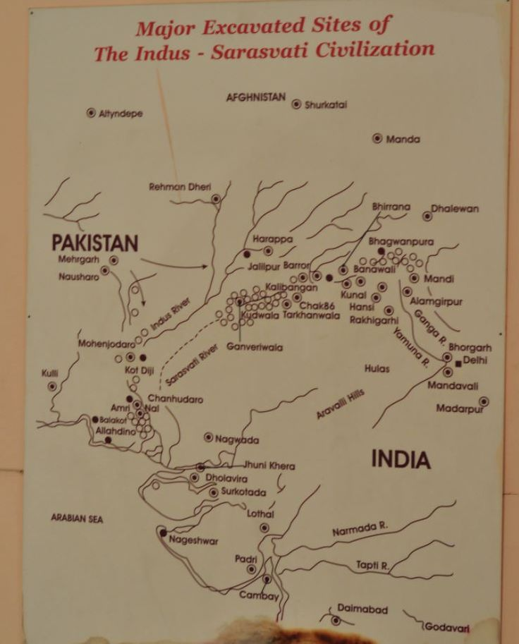 Indus River Civilization major sites India National Museum New Delhi