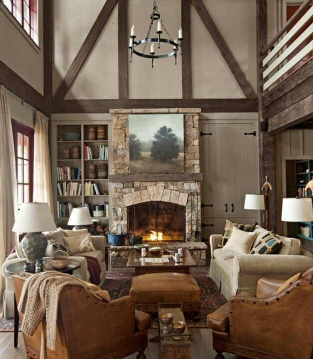 Rustic Lake House Decorating Ideas   Cabin Decor Ideas   Country Living  White Desk Fabulous Home Office Design Ideas With Modern Murphy Bed