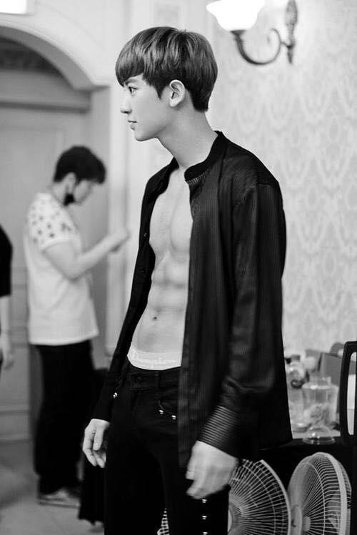 #Exo #Chanyeol shirtless