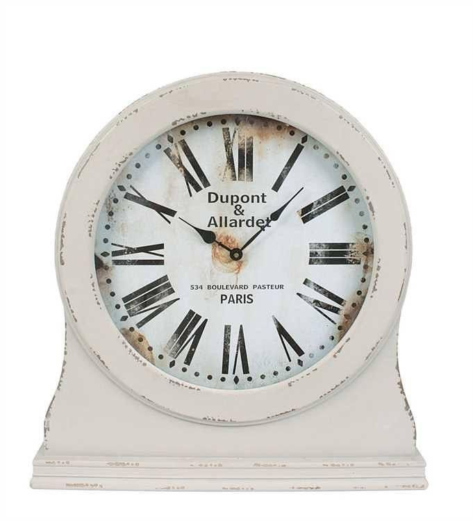 Paris Grey Mantel Clock