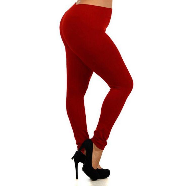 Lady's Classic Full Length Seamless Leggings Plus Size