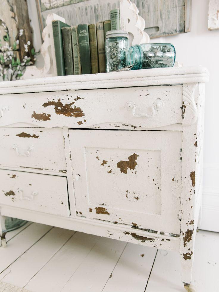 Chippy White Dresser with Salt Wash |
