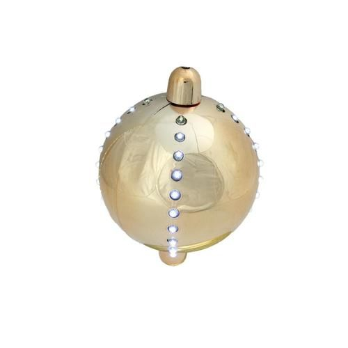 "5"""" Battery Operated LED Lighted Cascading Copper Gold Sphere Christmas Ball Decoration"