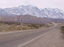 The Andes near the Mendoza Province in Argentina.