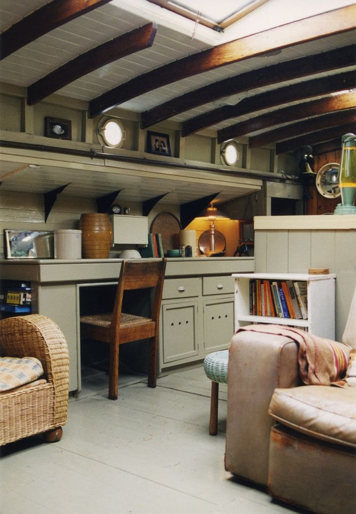 restored 1910 dutch barge river thames at hampton court interior design stephen male 1993 houseboat livinghouseboat ideasdutch bargeboat